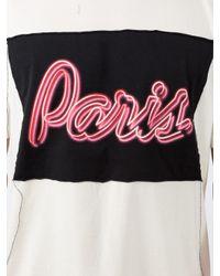 Maison Margiela White Paris Colour-block T-shirt for men