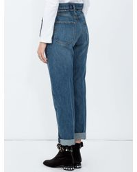 PROENZA SCHOULER WHITE LABEL Blue Pswl Paperbag Jeans