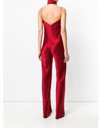 Galvan - Red Cuzco V-neck Jumpsuit - Lyst