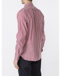 Acne Pink York Chamb Striped Shirt for men