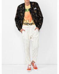 Off-White c/o Virgil Abloh - Black Tapestry Bomber Jacket for Men - Lyst