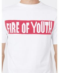 Loewe White Fire Of Youth T-shirt for men