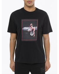 Alexander Wang - Black Car Babe Woven Patch Tee for Men - Lyst