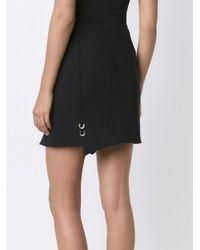 Mugler Black Piercing Detail Asymmetric Skirt