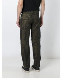 Balmain Multicolor Metallic Slim Biker Jeans for men