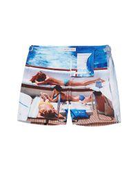 Orlebar Brown Blue On Deck Bulldog Swim Shorts for men