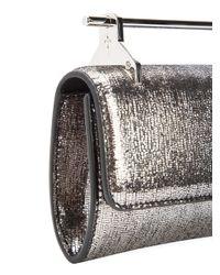M2malletier Mini Fabricca Metallic Textured Gold