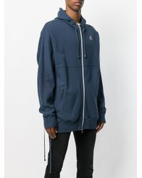 Faith Connexion Blue X Kway Zipped Hoodie for men