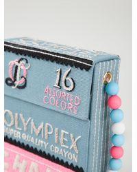 Olympia Le-Tan Multicolor Chalk Box Shoulder Bag