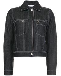 Paco Rabanne Multicolor Cropped Denim Jacket