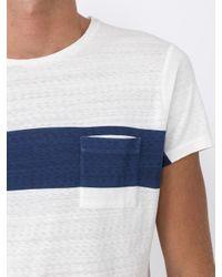 Orlebar Brown - Blue Contrast Stripe T-shirt for Men - Lyst
