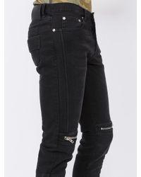 Givenchy Black Zip Detail Slim-fit Jeans for men