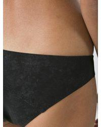 Lisa Marie Fernandez - Black Arden Flounce One-shoulder Bikini - Lyst