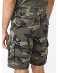 Valentino Green Camouflage Cargo Shorts for men