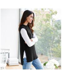 The White Company Multicolor Side Split Sleeveless Sweater