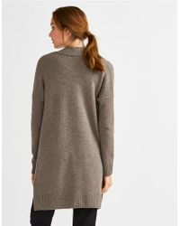 The White Company Multicolor Wool-cashmere Long Cardigan
