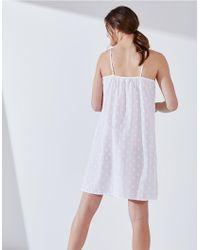 The White Company White Cotton Embroidered Nightie
