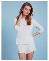 The White Company Multicolor Ruffle Trim Pyjama Set