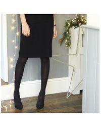 The White Company Black Merino Knitted Skirt
