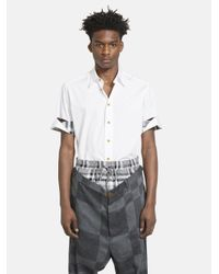 Vivienne Westwood - White Rolled Sleeve Shirt for Men - Lyst