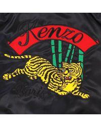 KENZO Black Jumping Tiger Bomber Jacket Navy for men