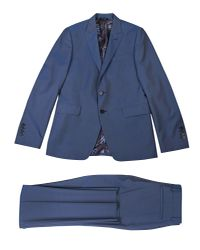 PS by Paul Smith Blue Wool-mohair Fully Lined Suit for men