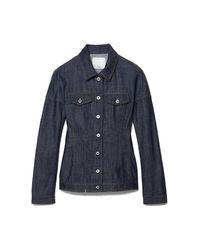 Tibi Blue Raw Denim Corset Jacket