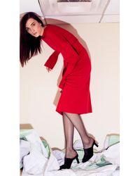 Tibi Red Merino Wool Sweater Dress