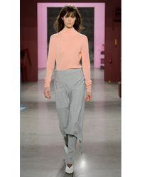 Tibi Gray Calvary Twill Origami Skirt