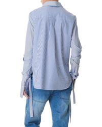 Tibi Blue Men's Stripe Strappy Shirt for men