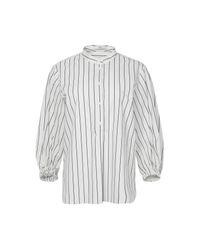 Tibi | White Striped Shirting Tunic Top | Lyst
