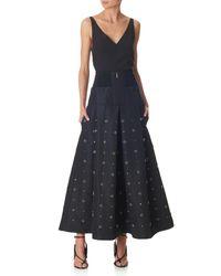 Tibi - Black Charlotte Beading Silk Skirt - Lyst