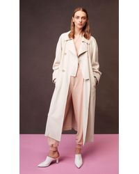Tibi - Natural Double Breasted Trench - Lyst