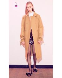 Tibi Multicolor Patent Coated Wool Mini Skirt