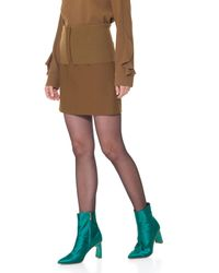 Tibi | Brown Anson Stretch Camille Mini Skirt | Lyst
