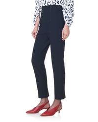 Tibi Black Anson Stretch Corset Skinny Pants