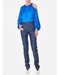 Tibi Blue Raw Denim Trish Jean