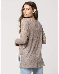 Blu Pepper - Multicolor Chevron Womens Sweater - Lyst