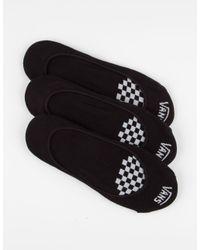 Vans - Black 3 Pack Girly No Show Socks - Lyst