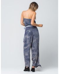 Free People - Gray Just Float Womens Jumpsuit - Lyst
