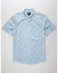 Retrofit Blue Swan Floatie Mens Shirt for men