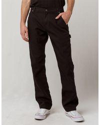e13ab267b2dd5f ... Duck Carpenter Pants. Ies Flex Regular Fit Straight Leg Tough Max  Stonewashed Black