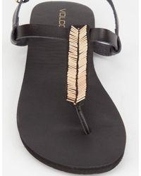 Volcom - Black Luxe Womens Sandals - Lyst