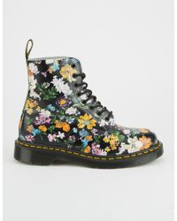 Dr. Martens - Black Darcy Floral Pascal Womens Boots - Lyst