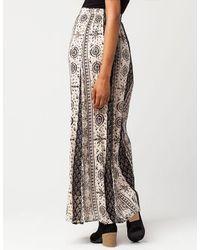 Patrons Of Peace Black Printed Maxi Skirt