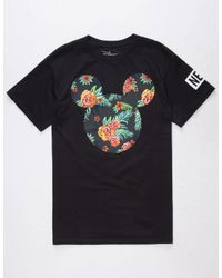 Neff | Black Disney Collection Astro Floral Mickey Mens T-Shirt for Men | Lyst