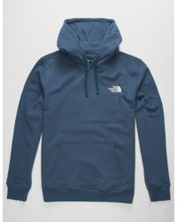 The North Face - Blue Red Box Mens Hoodie for Men - Lyst