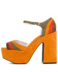 Jeffrey Campbell Orange Candice-2 Mustard Heel