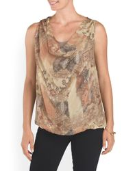 Tj Maxx - Natural Made In Italy Silk Sleeveless Top - Lyst