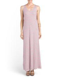 Tj Maxx - Purple Stripe Maxi Dress - Lyst